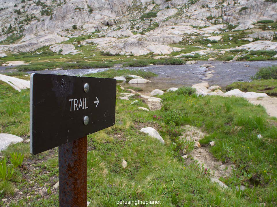 pacific crest trail trail sign