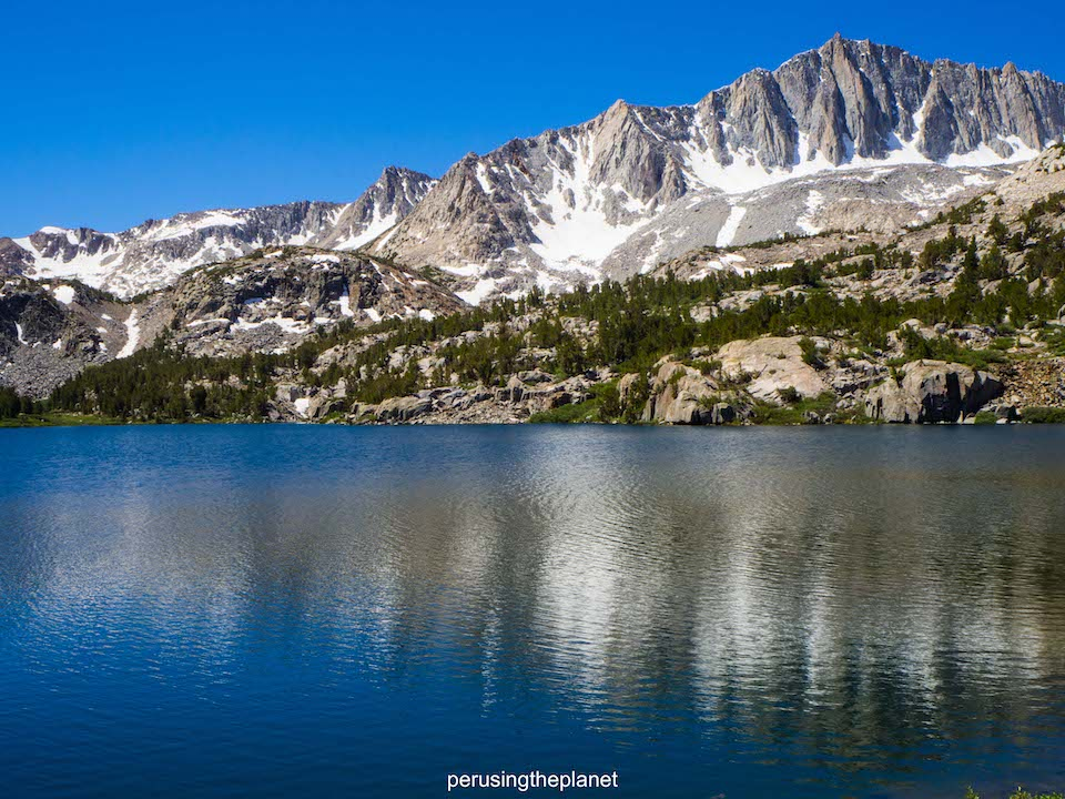mountain reflections in a lake on the john muir trail pictures