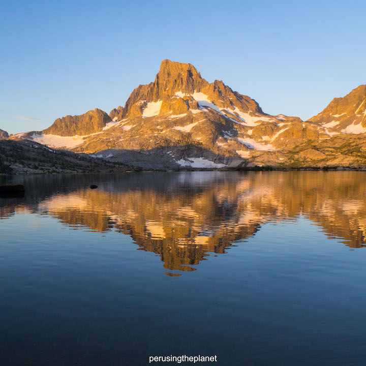 sunrise on banner peak thousand island lake pacific crest trail pictures
