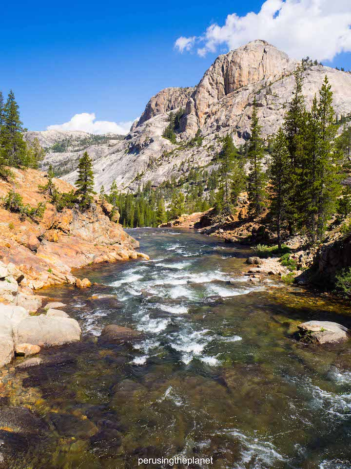 river in yosemite, on the john muir trail