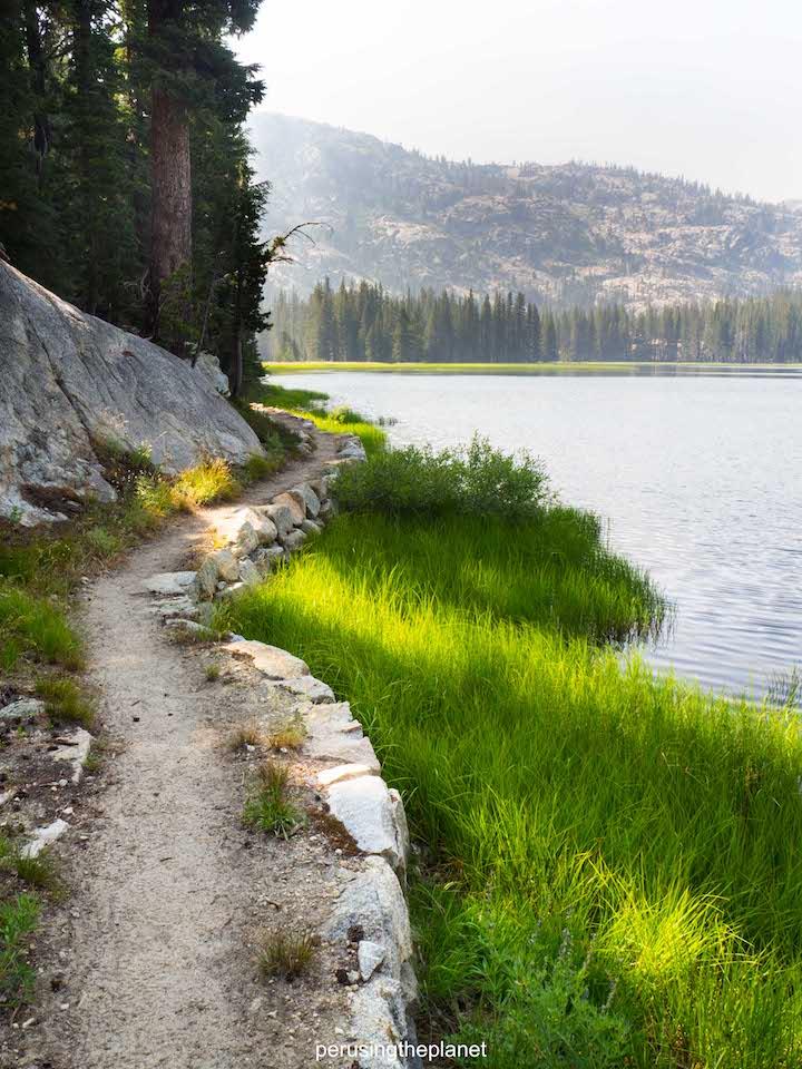 yosemite lake, pacific crest trail photography