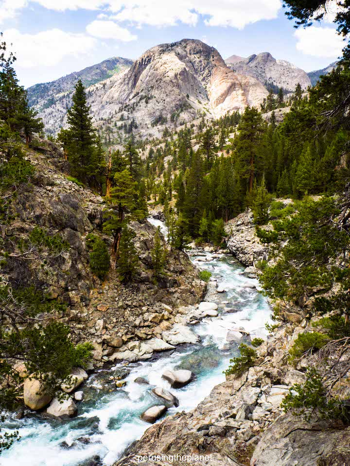 a river running along side the pacific crest trail