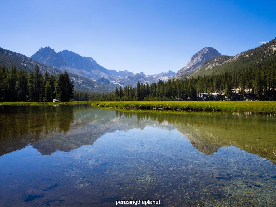 mountain reflections john muir wilderness pacific crest trail