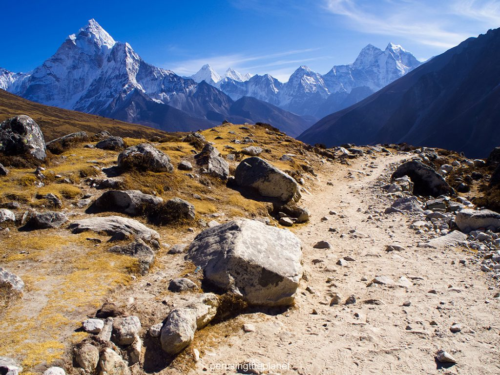path to mountains. everest base camp photo
