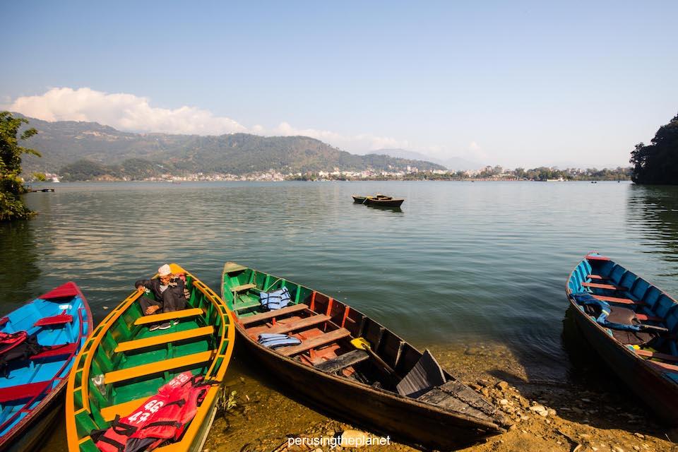 boats on lake phewa