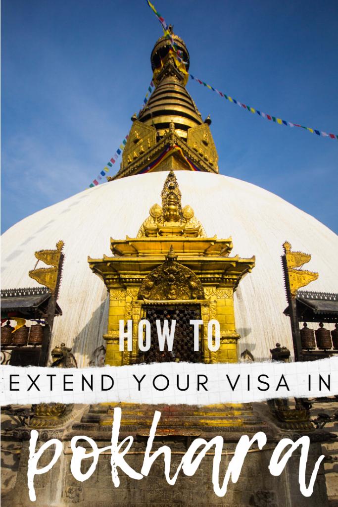 how to extend tourist visa pokhara nepal