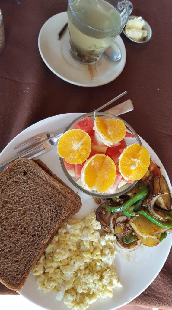 breakfast set umbrella cafe