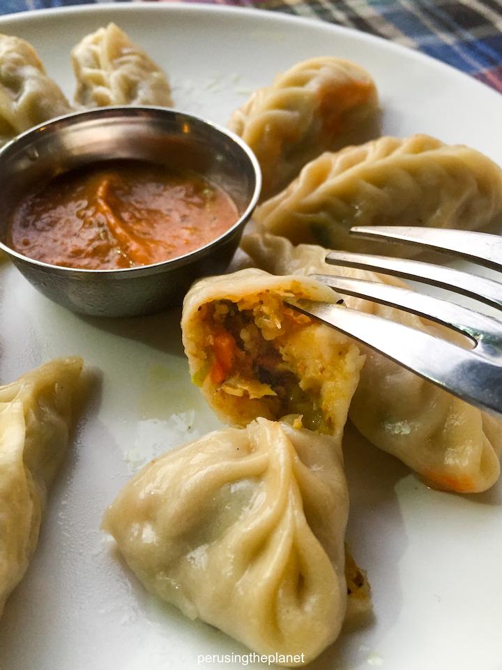 inside a momo nepal food