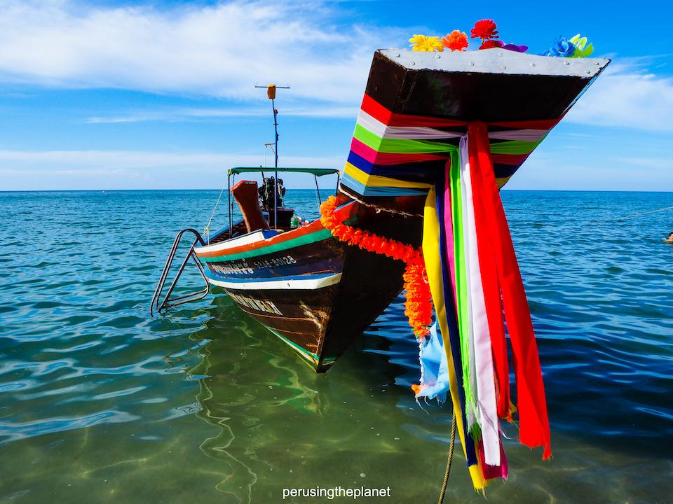 thai boat on koh samui