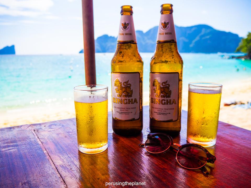 beer on the beach koh phi phi