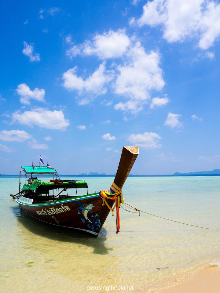 thai boat on thailands best island