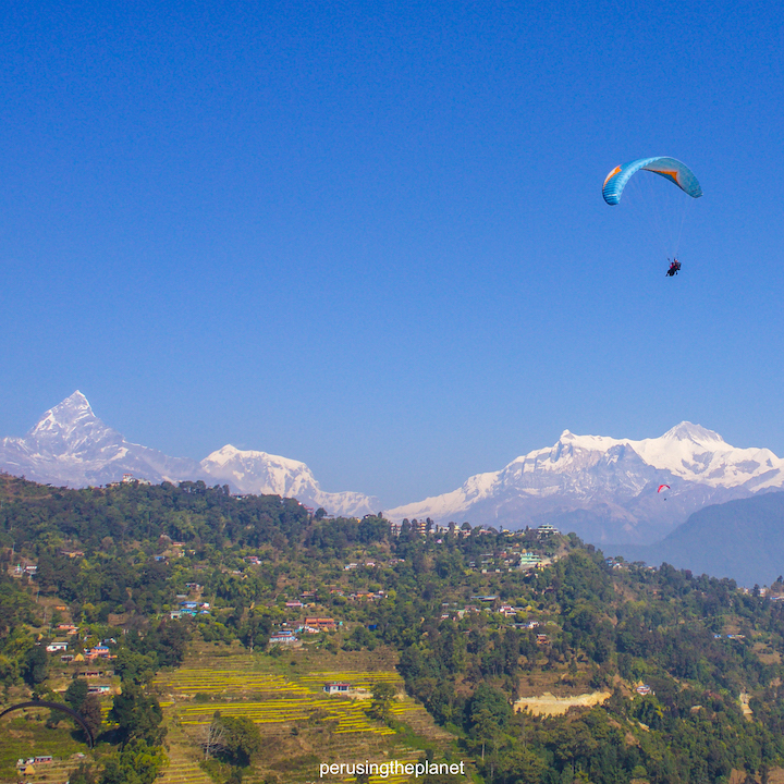 pokhara paragliding over annapurnas