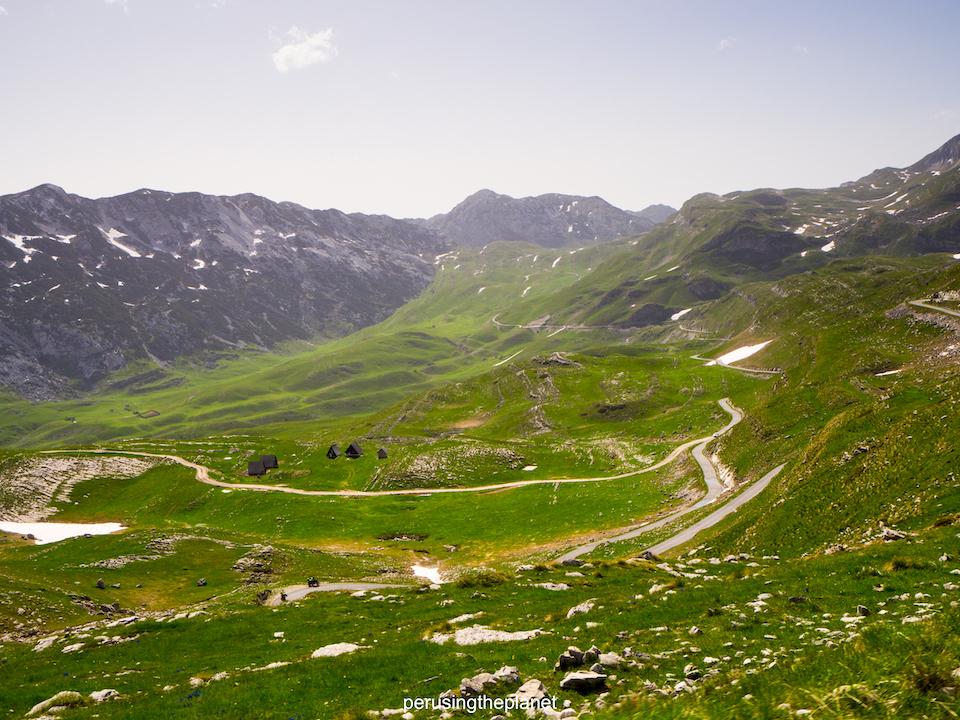 the road in montenegro on european road trip