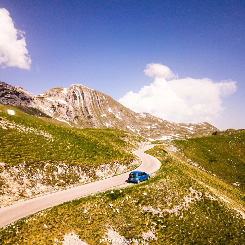 mountains in durmitor national road trip around europe