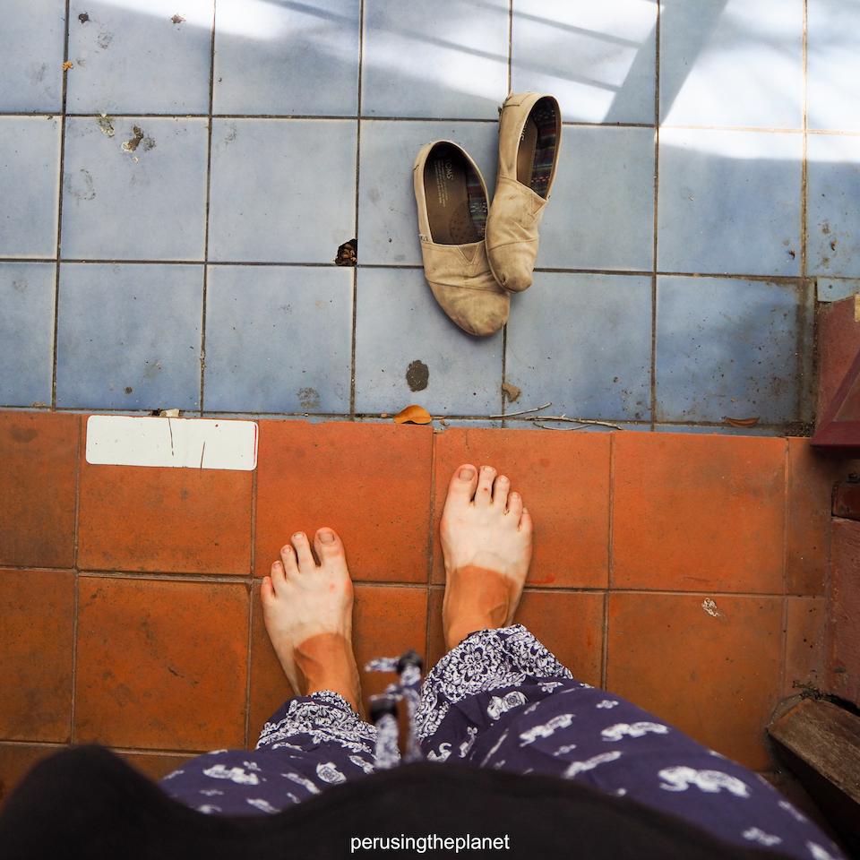 bring sensible shoes traveling