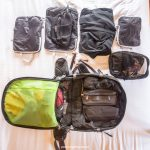 organising with packing cubes