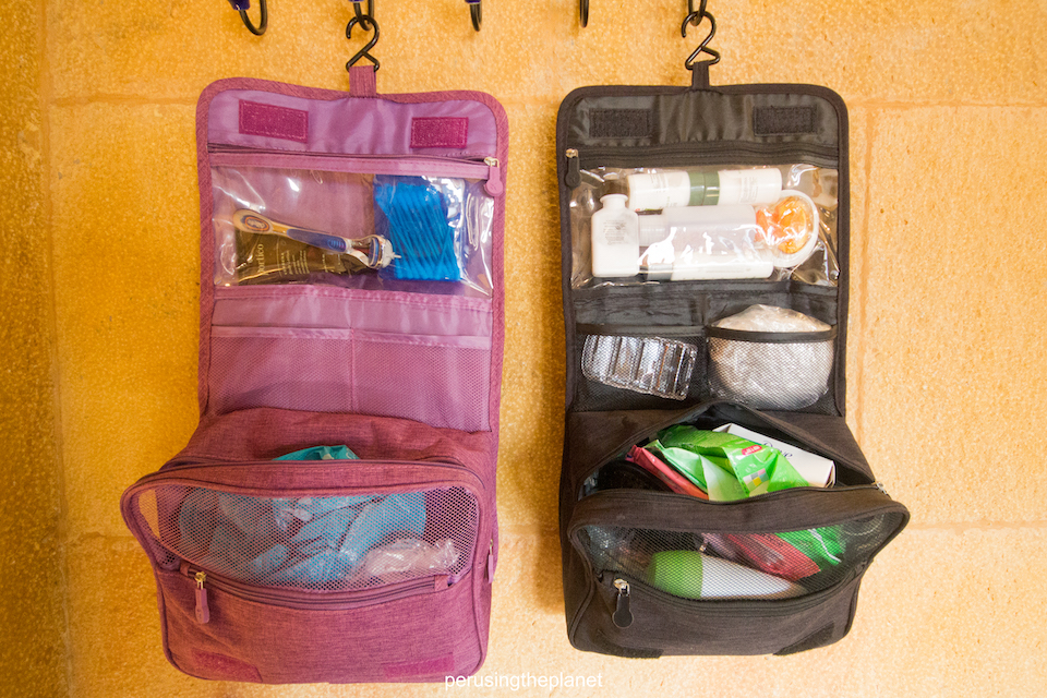 hanging toiletry bag things to bring backpacking