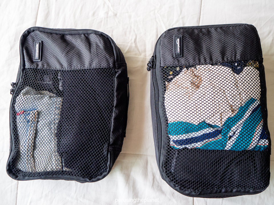 different packing cubes