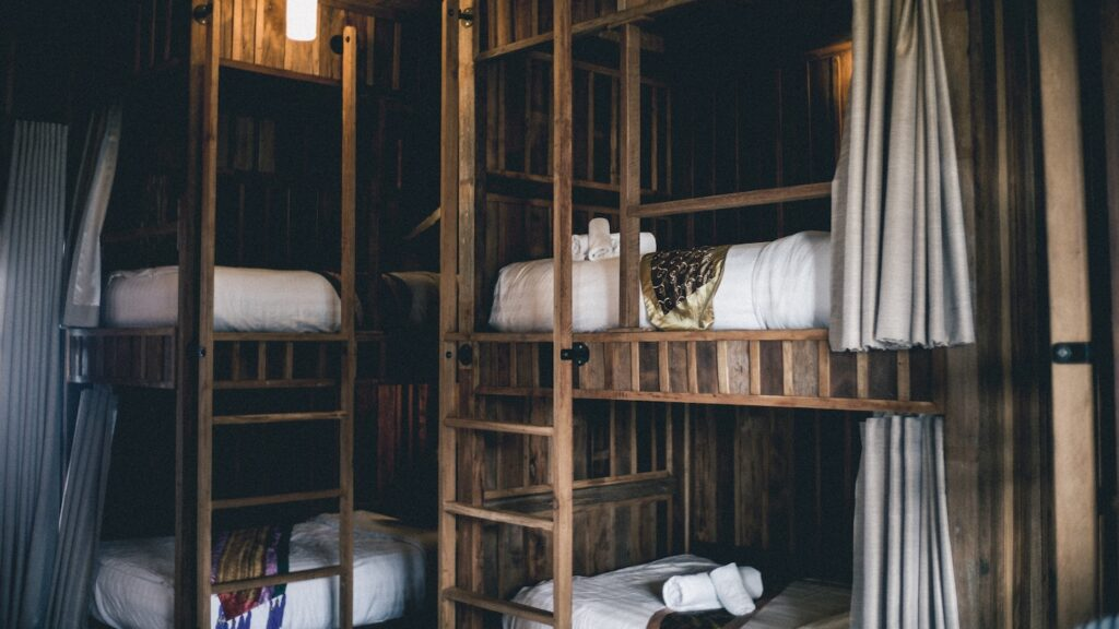 luxury dorm room in a hostel