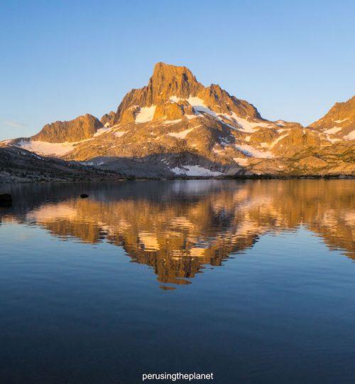 banner peak thousand island lake sunset