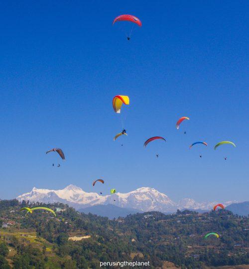 paraglider in nepal