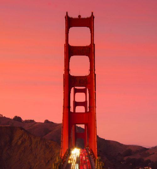 sanfrancisco golden gate bridge sunset